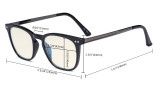 Blue Light Filter Glasses Men Women - Blocking UV Rays Anti Screen Glare Retro Computer Reading Eyeglasses - Tortoise Frame UVRJ003