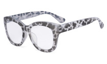 Oversized Glasses - Retro Eyeglasses Reading Glasses for Women - Grey/Tortoise Frame FH1555