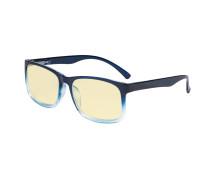Blue Light Glasses - Design Computer Eyeglasses Reading Glasses with Yellow Filter Lens for Men Women Anti Screen Glare Blocking Digital UV Rays - Blue TM1805