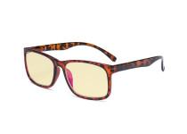Blue Light Glasses - Design Computer Eyeglasses Reading Glasses with Yellow Filter Lens for Men Women Anti Screen Glare Blocking Digital UV Rays - Tortoise TM1805
