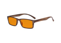 Blue Light Blocking Glasses - Anti Digital Glare Eyewears with Orange Tinted Filter UV Protection Nighttime Computer Eyeglasses Reading Glasses Men Women - Brown Stripe DS057