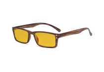 Blue Light Blocking Glasses - Anti Digital Glare Eyewears with Amber Tinted Filter UV Protection Computer Eyeglasses Reading Glasses Men Women - Brown Stripe HP057