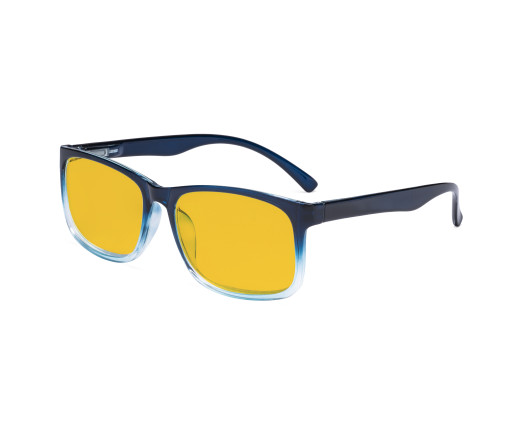 Blue Light Glasses - Design Computer Eyeglasses Reading Glasses with Amber Tinted Filter Lens for Men Women Anti Screen Glare Blocking Digital UV Rays - Blue HP1805