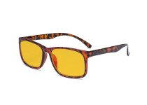Blue Light Glasses - Design Computer Eyeglasses Reading Glasses with Amber Tinted Filter Lens for Men Women Anti Screen Glare Blocking Digital UV Rays - Tortoise HP1805