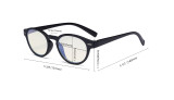 Round Blue Light Filter Glasses - Oval Computer Eyeglasses Reading Glasses Women Anti Screen UV Rays - Blocking Digital Glare with Transparent Blue Lens - Tortoise UVR091
