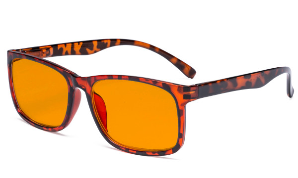 Blue Light Glasses - Design Computer Eyeglasses Reading Glasses with Orange Tinted Filter Lens for Men Women Anti Screen Glare Blocking Digital UV Rays - Tortoise DSRT1805