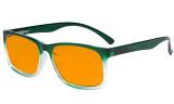 Blue Light Glasses - Design Computer Eyeglasses Reading Glasses with Orange Tinted Filter Lens for Men Women Anti Screen Glare Blocking Digital UV Rays - Green DSRT1805