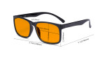Blue Light Glasses - Design Computer Eyeglasses Reading Glasses with Orange Tinted Filter Lens for Men Women Anti Screen Glare Blocking Digital UV Rays - Black DSRT1805