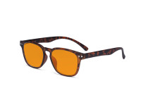 Design Blue Blocking Glasses - Anti Digital Glare Eyewears with Orange Tinted Reduce Filter Lens UV Protection Computer Eyeglasses Women - Tortoise DS079