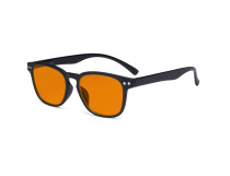 Design Blue Blocking Glasses - Anti Digital Glare Eyewears with Orange Tinted Reduce Filter Lens UV Protection Computer Eyeglasses Women - Black DS079