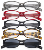 5 Pack Reading Glasses Women - Spring Hinge Ladies Readers R9101-5pcs-Mix