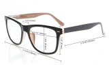 5-pack Reading Glasses Retro Square Design Quality Spring Hinges Readers Include Computer Glasses R080-Mix