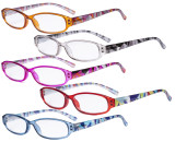 5 Pack Ladies Reading Glasses with Pattern Arms - Design Readers for Women Reading R9104G-5PCS