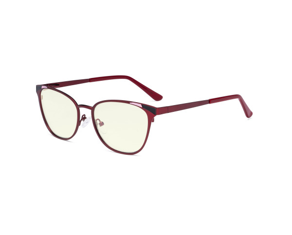 Blue Light Filter Glasses for Women Blocking Digital Glare - Butterfly Design Computer Eyegalsses Anti Screen UV Rays with Transparent Blue Lens - Red LX19035-BB40