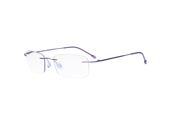 Frameless Progressive Reading Glasses Rimless Multifocus Readers with Blue Light Filter UV Protection Reader Men Women - Purple MWK8