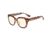 Oversized Progressive Readers Women - UV Protection Rimless Multifocus Computer Readers - Noline Bifocal Reading Glasses - Brown/Tortoise Frame MTR1555