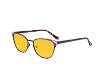 Blue Light Blocking Glasses for Women Block Digital Glare - Butterfly Design Computer Eyegalsses Women Anti Screen UV Rays with Amber Tint Filter Lens - Purple LX19035-BB90