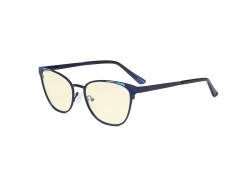 Blue Light Blocking Glasses for Women Block Digital Glare - Butterfly Design Computer Eyegalsses Anti Screen UV Rays with Yellow Tint Filter Lens - Blue LX19035-BB60