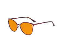 Ladies Nighttime Blue Blocking Glasses - Butterfly Design Computer Eyegalsses Women Anti Screen Light UV Rays - Blocking Digital Glare with Orange Tint Filter Lens - Red LX19031-BB98