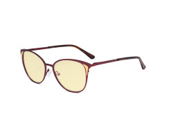 Ladies Blue Light Blocking Glasses - Butterfly Design Computer Eyegalsses Women Anti Screen UV Rays - Blocking Digital Glare with Yellow Tint Filter Lens - Red LX19031-BB60