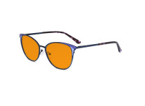 Ladies Nighttime Blue Blocking Glasses - Butterfly Design Computer Eyegalsses Women Anti Screen Light UV Rays - Blocking Digital Glare with Orange Tint Filter Lens - Blue LX19031-BB98