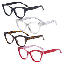 4-pack Cateye Design Reading Glasses Oversized Readers Eyeglasses Readers for Women Reading