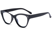Large Cateye Design Glasses Oversized Eyeglasses Readers for Women - Black R9108