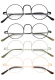 4-Pack Readers Lightweight Round Metal Circle Reading Glasses R15025-MIX