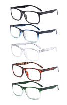 5-pack Large Frame Reading Glasses - Stylish Reader Eyeglasses for Men Women Reading RT1805