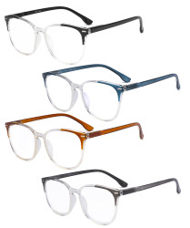 4 Pack Ladies Reading Glasses Oversized Square Readers for Women Reading