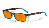 Blue Light Blocking Glasses for Women Nighttime Reading Computer Screen - Anti Digital Glare Blue Light Filter Readers with Orange Tinted Eyeglasses- Totoise/Blue DS898D
