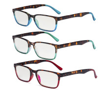 3-pack Design Reading Glasses Stylish Readers for Women Reading