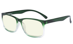 Blue Light Glasses - Design Computer Eyeglasses Readers for Men Women Anti Screen Glare Blocking Digital UV Rays - Green UVRT1805