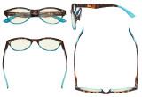 Cat-eye Style Blue Light Filter Glasses - Blocking UV Rays Digital Glare Eyeglasses Readers for Women Reading Computer - Tortoise/Blue UVR074D