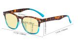 Blue Light Blocking Glasses for Women Reading Screen - Stylish Computer Glasses Reading Glasses Anti UV Rays Yellow Filter Lens- Tortoise/Red TM079D