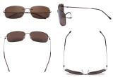 Rimless Bifocal Sunglasses Women Men Lightweight Bifocal Readers for Reading under the Sun - Brown/Brown lens SGWK2