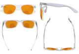 Blue Light Blocking Bifocal Glasses for Women Reading Computer Orange Tinted Nighttime Sleeping Bifocals Readers Clear DSS027