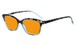 Blue Blocking Glasses Reading Glasses for Women Reading Computer Cut Screen Light UV Rays Readers Orange Tinted - Blue DS9111
