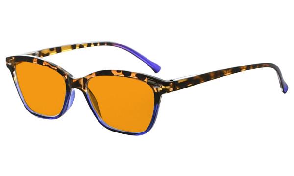 Blue Blocking Glasses Reading Glasses for Women Reading Computer Cut Screen Light UV Rays Readers Orange Tinted - Purple DS9111