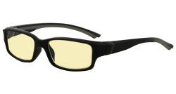 Blue Light Blocking Glasses readers for Men Women Reading Computer Screen Cut Blue UV Rays Digital Glare Yellow Filter - Black/Grey Arm TMXM01
