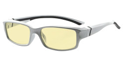 Blue Light Blocking Glasses readers for Men Women Reading Computer Screen Cut Blue UV Rays Digital Glare Yellow Filter - Silver/Black Arm TMXM01