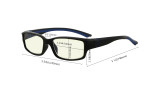 Blue Light Filter Glasses Reading Glasses for Men Women Reading Computer Screen Blocking Blue UV Rays Digital Glare Blue Lens - Clear/Black Arm UVXM01