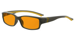 Blue Light Blocking Glasses Reading Glasses for Men Women Nighttime Reading Computer Screen Cut Blue UV Rays Digital Glare Orange Tinted - Grey/Yellow Arm DSXM01