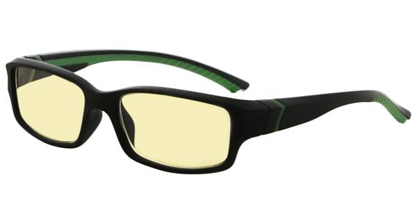 Blue Light Blocking Glasses readers for Men Women Reading Computer Screen Cut Blue UV Rays Digital Glare Yellow Filter - Black/Green Arm TMXM01
