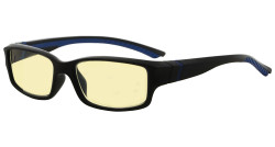 Blue Light Blocking Glasses readers for Men Women Reading Computer Screen Cut Blue UV Rays Digital Glare Yellow Filter - Black/Blue Arm TMXM01