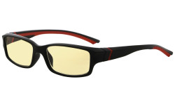 Blue Light Blocking Glasses readers for Men Women Reading Computer Screen Cut Blue UV Rays Digital Glare Yellow Filter - Black/Red Arm TMXM01