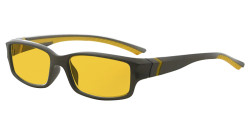 Blue Light Blocking Glasses Reading Glasses for Men Women Reading Computer Screen Cut Blue UV Rays Digital Glare Amber Tinted - Grey/Yellow Arm HPXM01