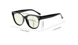 Blue Light Filter Glasses for Women Reading Computer Screen Blocking UV Rays Oversize - Tortoise UVR9110