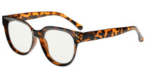Blue Light Filter Progressive Readers Women - Oversize Multifocus Computer Glasses - Noline Trifocal Reading Glasses - Tortoise M9110