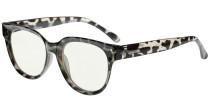 Blue Light Filter Progressive Readers Women - Oversize Multifocus Computer Glasses - Noline Trifocal Reading Glasses - Grey/Tortoise M9110